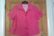 Marks & Spencer salmon pink short sleeve blazer jacket. Size 14.