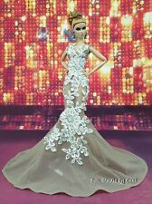 Eaki Evening White Lace Dress Gown Outfit Fits Silkstone Barbie Fashion Royalty