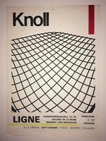 Original exhibition poster KNOLL at Brussels LIGNE