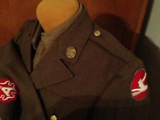 WWII 84th Infantry Division Ike Jacket Shirt Uniform WW2 Named Krachmer Chicago