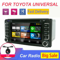 2Din Car Stereo GPS Navi Bluetooth Doppel Map Camera CAR DVD Player For Toyota