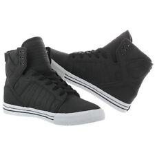 Supra Skytop S18188-BLK Matte Coated Suede Black Sneaker Shoes Mens Size US 5
