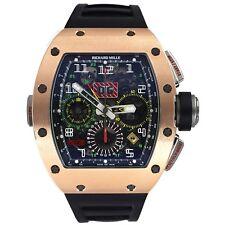 Richard Mille RM 11-02 Gmt Rosegold Titan Gummi Automatische Armbanduhr
