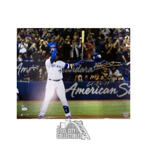 Vladimir Guerrero Jr MLB Debut Autographed Toronto Blue Jays 16x20 Photo JSA COA