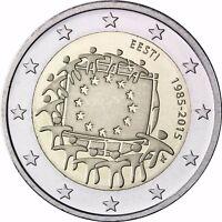Estland 2 Euro 30 Jahre Europaflagge 2015 Gedenkmünze Bankfrisch