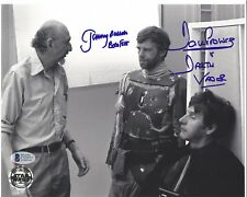 DAVE PROWSE JEREMY BULLOCH AUTO'D STAR WARS EMPIRE STRIKES BACK BAS COA 8X10