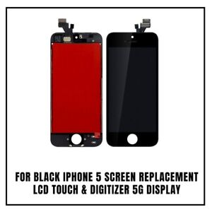 For Black iPhone 5 Screen Replacement LCD Touch & Digitizer 5G Display
