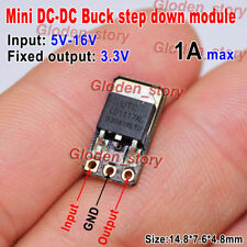 1A DC-DC Buck Step-down Converter Volt Regulator 5V-16V 9V 12v to 3.3V Fixed Out