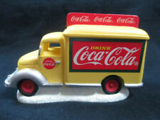 Coca-Cola Town Square Yellow Delivery Truck Christmas Village Holiday