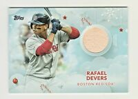 2020 Topps Holiday Mega GAME USED RELIC #WHR-RAFAEL DEVERS Boston Red Sox
