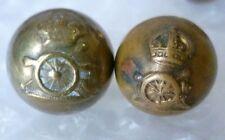 Button- WWI Royal Artillery Regiment Corps Buttons; BRASS 16,13 mm; 2 pcs