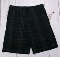 Oneill Mens Size 30 Black Plaid Casual Walking Shorts