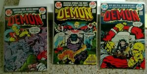 LOT: Three Issues - The Demon #13, 14, 15 - 1973 - All Jack Kirby