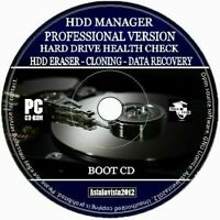 Hard Drive & SSD Manager Cloning Health Check Data Recovery Format Eraser PC CD