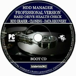 Hard Drive & SSD Manager Cloning Eraser Health Check Data Recovery Format PC CD