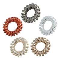 5Pcs Rubber Telephone Wire Hair Ties Spiral Hair Head Elastic Bands Hot