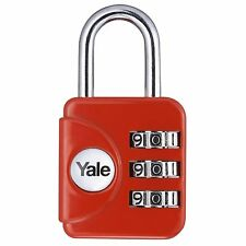Yale Combination Padlock YP1/28/121/1R Travel Security Red