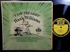 HANK WILLIAMS I Saw The Light LP MGM E-243 DG MONO 1954 Original Country Legend