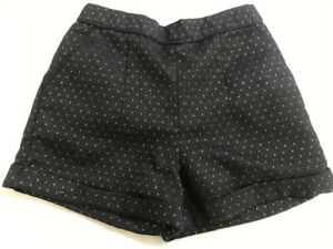 lovely 7 yr girls' TU kids black hot pant shorts with gold lurex thread all over