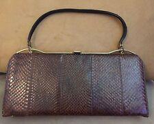 Vintage Leather Snakeskin Bag Good Condition