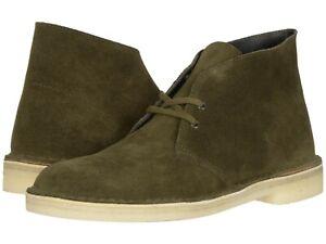 Men's Shoes Clarks Originals DESERT BOOT Suede Chukkas 47292 DARK OLIVE