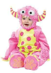 Mini Monster Furry Fancy Dress Halloween Baby Toddler Child Costume 2 COLORS