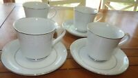 Lovelace cups and saucer sets Crown Victoria 4 sets Wedding China ECU Platinum