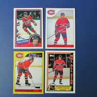 CHRIS CHELIOS 1984-85 OPC # 259 + 8 cards Montreal Canadiens Chicago Black Hawks