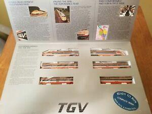 "Vintage N scale BACHMANN ""TGV"" High Speed French Passenger Train #51-4001 - LN"