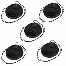 5 pcs 55mm Center Pinch Snap on Front Cap For Sony Canon Nikon Lens Filters 55mm