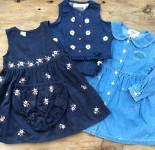 Lot Of 3 Vintage Toddler Girls Clothing Lot, Dress, Pant & Vest Set, Floral