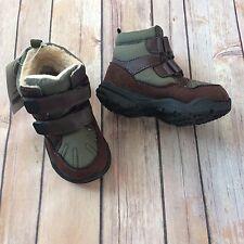 ***NEW*** CARTER'S Toddler Boys Green & Brown Dunes Boots, sz 7 Toddler