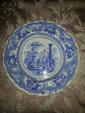 Canovian No 26 Mid-Victorian Staffordshire Blue & White Plate Not Willow Pattern