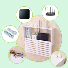 Wireless Wifi Router Storage Box Wood Plastic Shelf Wall Hanging Brackets Holder