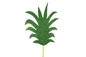 """Glitter PINEAPPLE Crown Top 3"""" Cupcake Toppers CHOOSE Package Amount"""
