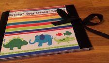 5x7 Pre Made Scrapbook Birthday Boy Book Album Animals 16 Pages Soft Cover