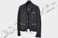 LANVIN 3800$ Authentic New Navy Blue Multi Pocket Suede Leather Jacket sz 46 S