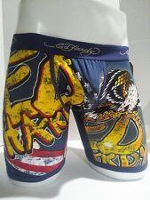 Ed Hardy Men's Underwear Navy Eagle Print  Boxer Briefs Size Small
