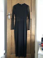 Black Kookai Dress See Through Sleeves & Waist Size 8