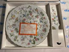 Nib Andrea By Sadek Pink Floral Design Cake Dessert Plate & Server Set