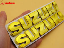 "CHROME GOLD 4MM VERY 3D 6"" EMBLEM DECAL FAIRING/FENDER STICKER FOR SUZUKI LOGO"