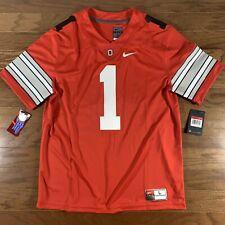 Nike Ohio State Buckeyes (Stitched) Black #1 Limited Red Jersey (Fields) Sz L