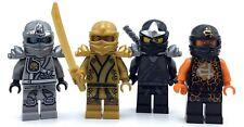 LEGO LOT OF 4 NINJAGO MINIFIGS ELEMENTAL GOLD LLOYD COLE NRG FIGURES