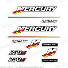 Mercury 250xs Optimax Racing Outboard Engine Decal Kit 2003 - 2004 250hp Decals
