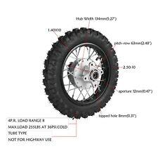 12mm 2.50-10 Rear Drum Brake Wheel Tire for Coolster Mini Pocket Bike Dirt Bike