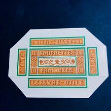 Rare1910 Etiquette Boite Miniature Échantillon Gaufrette Lu Chromolithographie 2