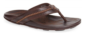 Olukai Mea Ola Dark Java/Dark Java Comfort Flip Flop Men's US sizes 7-15 NIB!!!