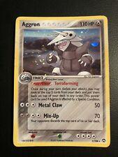 Pokemon Card Aggron (EX Power Keepers) 1/108 **NEAR MINT** Holo Rare W/ SWIRL