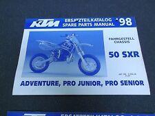 1998 KTM 50 SXR Chassis Spare Parts Manual 50cc Adventure Pro Junior Senior