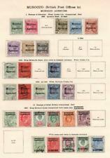 MOROCCO AGENCIES: 1898-1907 - Ex-Old Time Collection - Album Page (33190)